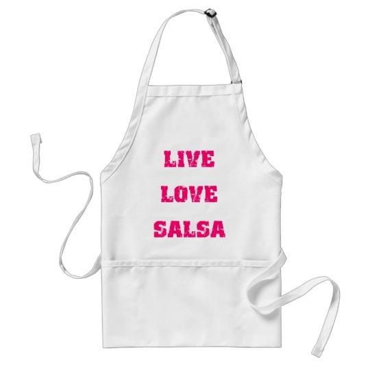 Salsa dancing adult apron