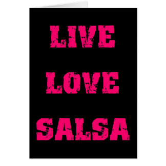 Salsa dancing card