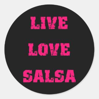 Salsa dancing classic round sticker