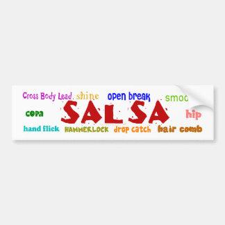Salsa Dancing Dance Moves White Bumper Sticker Car Bumper Sticker