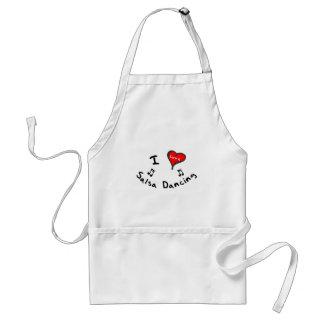 Salsa Dancing Gifts - I Heart Salsa Dancing Apron