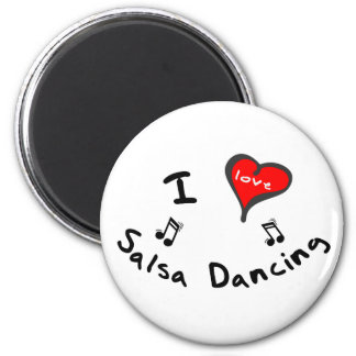 Salsa Dancing Gifts - I Heart Salsa Dancing Fridge Magnet