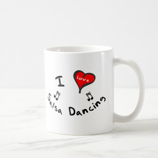 Salsa Dancing Gifts - I Heart Salsa Dancing Mugs
