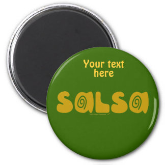 Salsa Dancing Gold Swirls Customizable Magnets