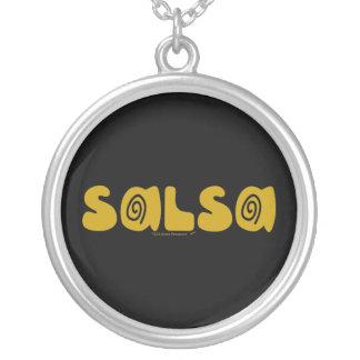 Salsa Dancing Gold Swirls Customizable Pendant