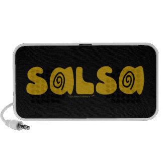 Salsa Dancing Gold Swirls Customizable iPod Speaker