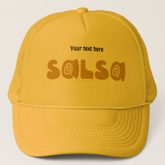 Salsa Dancing Gold Swirls Customizable Trucker Hat