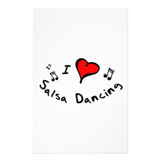 Salsa Dancing I Heart-Love Gift Stationery