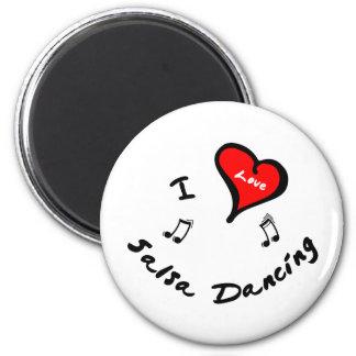 Salsa Dancing Items - I Heart Salsa Dancing Magnet
