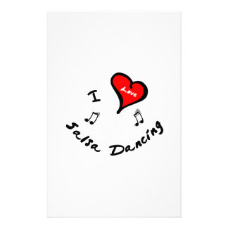 Salsa Dancing Items - I Heart Salsa Dancing Customized Stationery