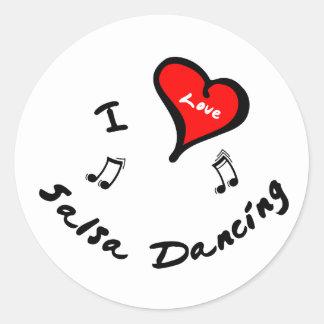 Salsa Dancing Items - I Heart Salsa Dancing Sticker