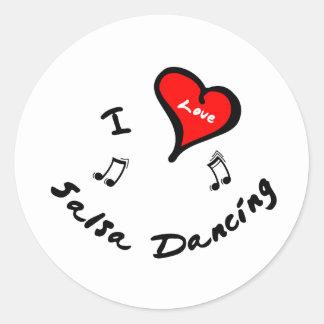 Salsa Dancing Items - I Heart Salsa Dancing Stickers