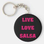 Salsa dancing key chain