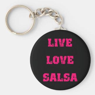 Salsa dancing keychain