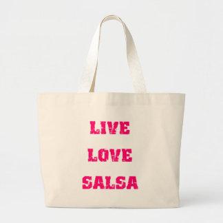 Salsa dancing large tote bag