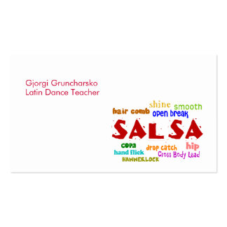 Salsa Dancing Latin Dance Teacher or Dancer Double-Sided Standard Business Cards (Pack Of 100)