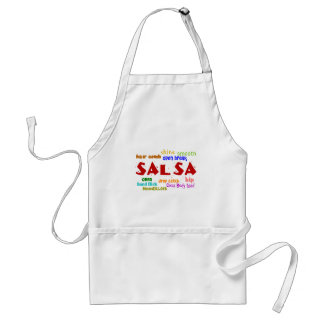 Salsa Dancing Lovers Dance Moves and Terms Adult Apron