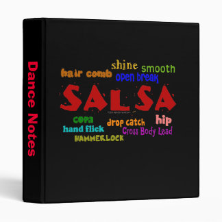 Salsa Dancing Lovers Dance Moves and Terms Binder