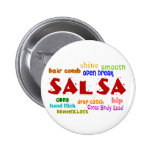Salsa Dancing Lovers Dance Moves and Terms Pinback Buttons