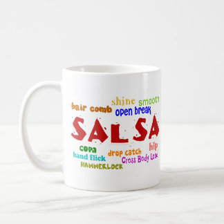 Salsa Dancing Lovers Dance Moves and Terms Coffee Mug