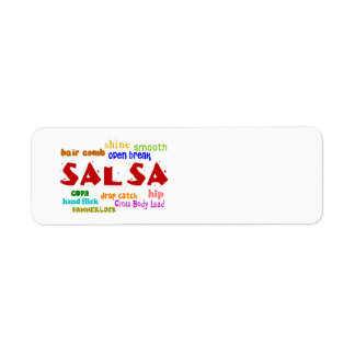 Salsa Dancing Lovers Dance Moves and Terms Return Address Labels