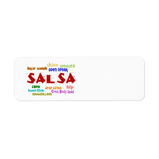 Salsa Dancing Lovers Dance Moves and Terms Label