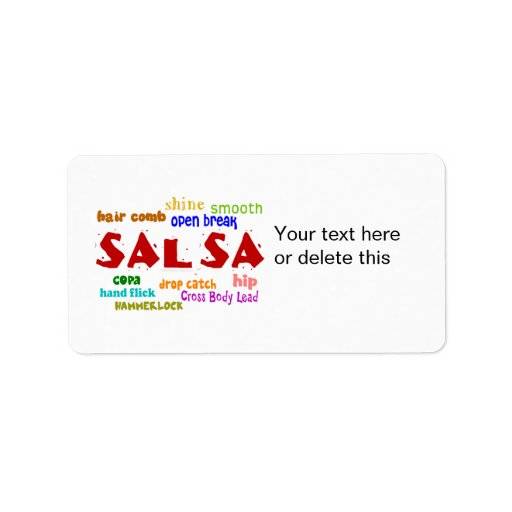 Salsa Dancing Lovers Dance Moves and Terms Custom Address Label
