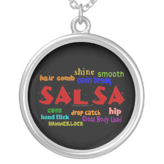 Salsa Dancing Lovers Dance Moves and Terms Necklaces