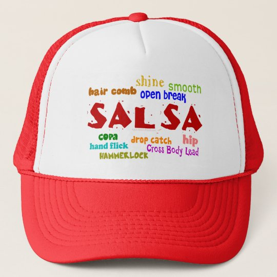 Salsa Dancing Lovers Dance Moves and Terms Trucker Hat