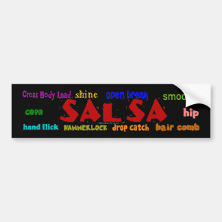 Salsa Dancing Lovers Dance Moves Bumper Sticker Car Bumper Sticker