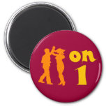 Salsa Dancing On One Silhouettes Customizable 2 Inch Round Magnet