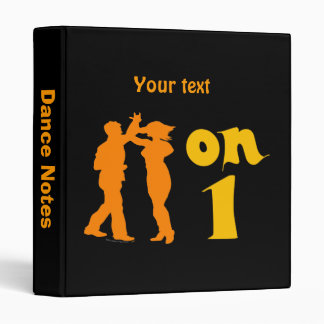 Salsa Dancing On One Silhouettes Customizable 3 Ring Binder