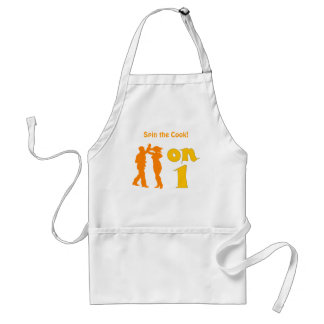 Salsa Dancing On One Silhouettes Customizable Adult Apron