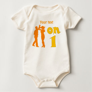Salsa Dancing On One Silhouettes Customizable Baby Bodysuit