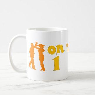 Salsa Dancing On One Silhouettes Customizable Coffee Mug