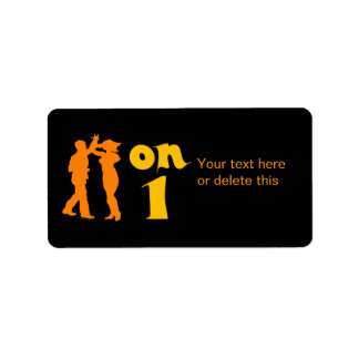 Salsa Dancing On One Silhouettes Customizable Custom Address Label