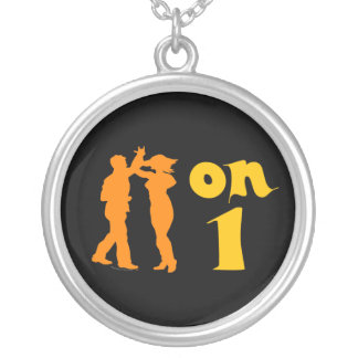 Salsa Dancing On One Silhouettes Customizable Custom Necklace