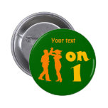 Salsa Dancing On One Silhouettes Customizable Pin