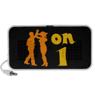 Salsa Dancing On One Silhouettes Customizable iPhone Speakers