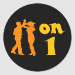Salsa Dancing On One Silhouettes Customizable Stickers