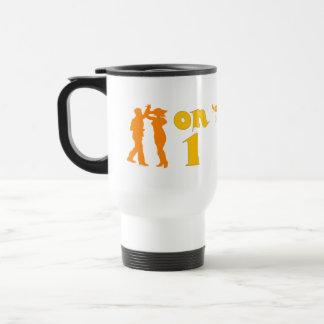 Salsa Dancing On One Silhouettes Steel Travel Mug