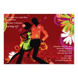 Salsa Dancing Party Invitation