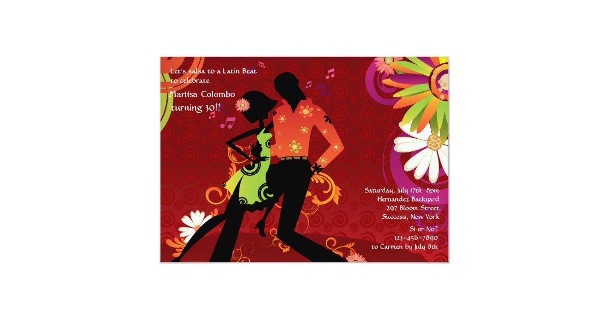 Salsa Dancing Party Invitation | Zazzle.com