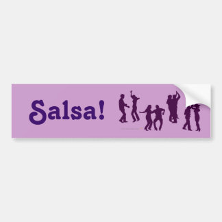 Salsa Dancing Poses Silhouettes Custom Bumper Sticker