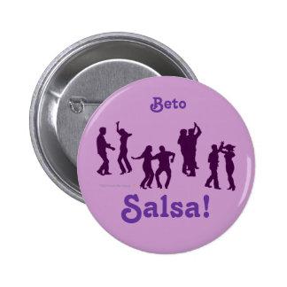 Salsa Dancing Poses Silhouettes Custom Pin