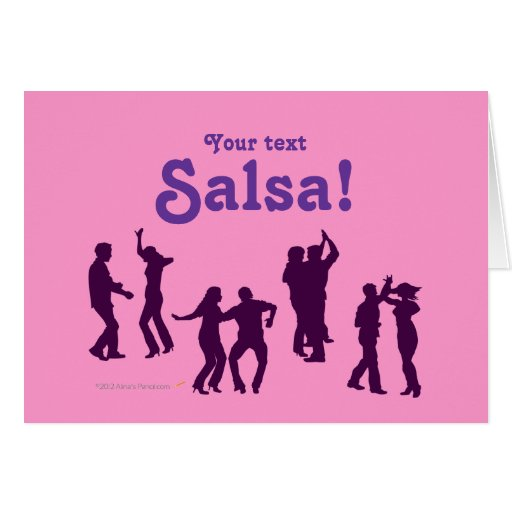 Salsa Dancing Poses Silhouettes Custom Cards
