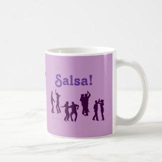 Salsa Dancing Poses Silhouettes Custom Coffee Mug