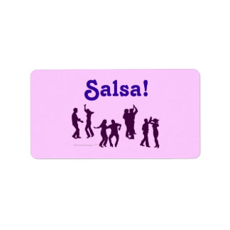 Salsa Dancing Poses Silhouettes Custom Address Label