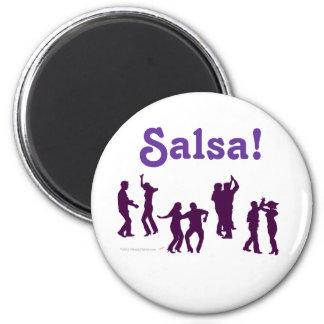 Salsa Dancing Poses Silhouettes Custom Refrigerator Magnet