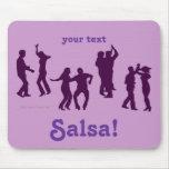 Salsa Dancing Poses Silhouettes Custom Mouse Pad